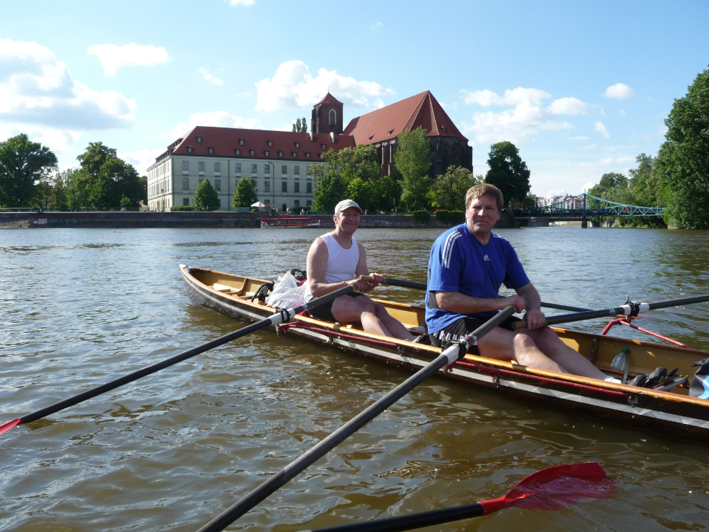 In der Marina Mehlbergen – ab hier ruderte Jens-Maria mit uns!