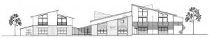 Bootshaus Ansicht Graphik